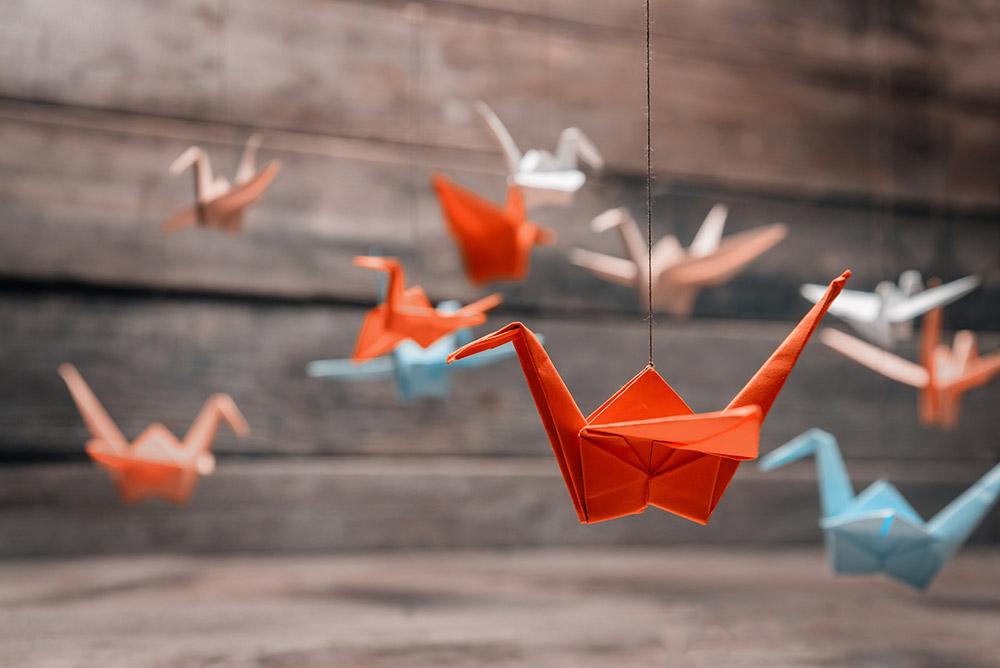 cranes-colorful
